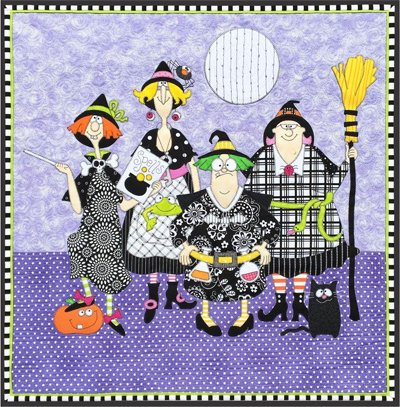 Witches Applique Quilt Pattern by Amy Bradley Designs