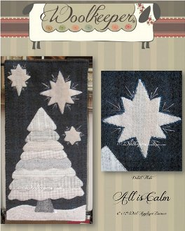 All is Calm Banner/Wallhanging Pattern by Woolkeeper