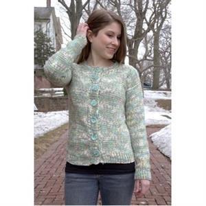 Women's Cardigan Knitting Pattern by Plymouth Yarns