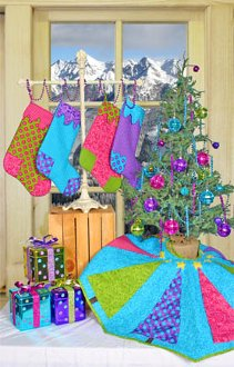 Caterwauling Christmas Tree Skirt and Stockings Pattern by Whistlepig Creek Productions