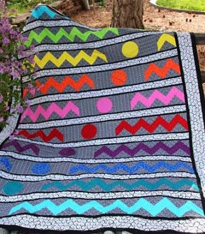 Getting Ziggy Quilt Pattern in 3 Sizes by Whistlepig Creek Productions