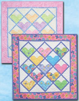 I Love You This Much Quilt Pattern in 3 Sizes by Whistlepig Creek Productions