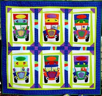 Monster Truckers Quilt Pattern by Whistlepig Creek Productions