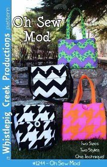 Oh Sew Mod Messenger/Tote Bag Pattern in 2 Sizes by Whistlepig Creek Productions