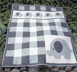 Petite Pachyderm Quilt Pattern in 2 Sizes by Whistlepig Creek Productions