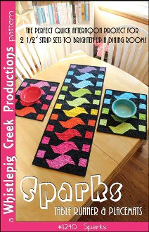 Sparks Tablerunner and Placemats Pattern by Whistlepig Creek Productions