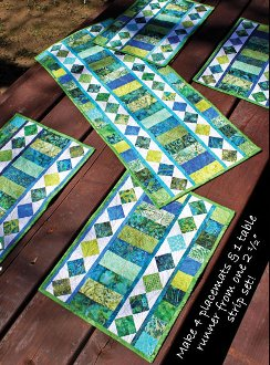 Table Charm 2 Tablerunner Pattern by Whistlepig Creek Productions