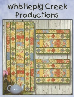 Table Charm Tablerunner and Placemat Pattern by Whistlepig Creek Productions