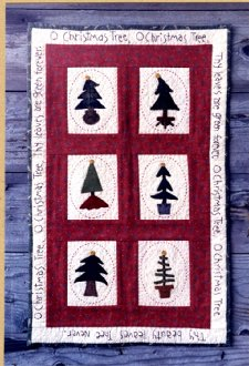 Oh Christmas Tree Wall Hanging by Wooden Spool Designs