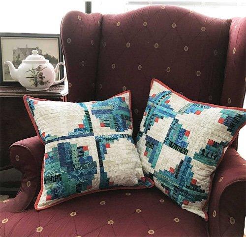 Yin and Yang Pillow Pair Pattern by Cut Loose Press