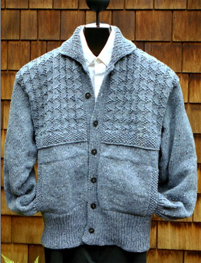 Yoke Pattern Jacket Pattern by Mari Sweaters
