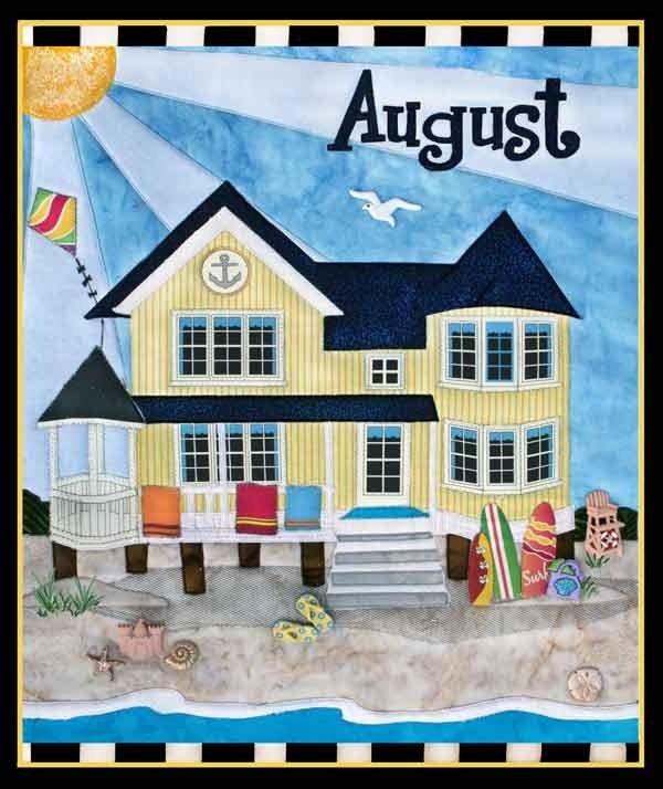 August Holiday House Beach House Quilt Pattern by Zebra Patterns