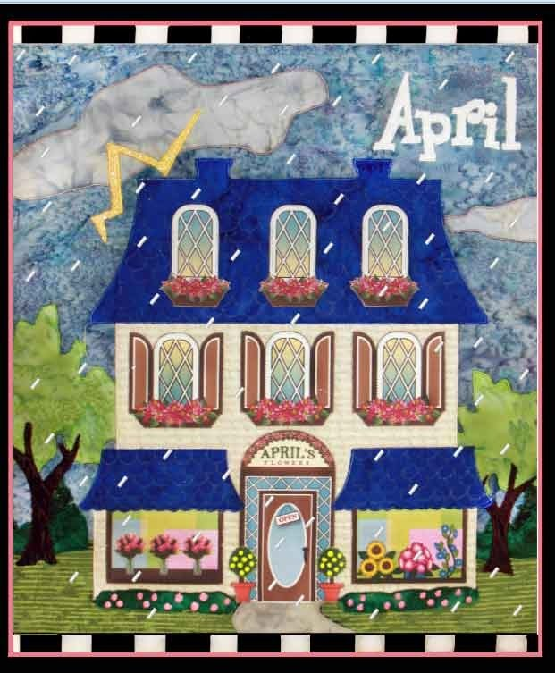 April Holiday House Quilt Pattern by Zebra Patterns