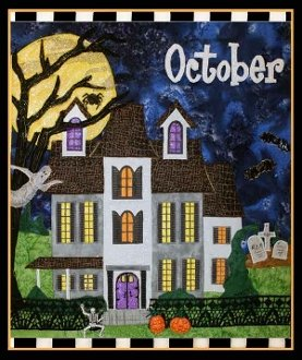 October Holiday House Haunted House Quilt Pattern by Zebra Patterns