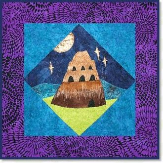 Tower of Babel Quilt Block Pattern by Zebra Patterns