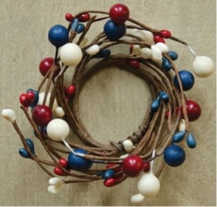 Americana Candle Ring 1-1/2