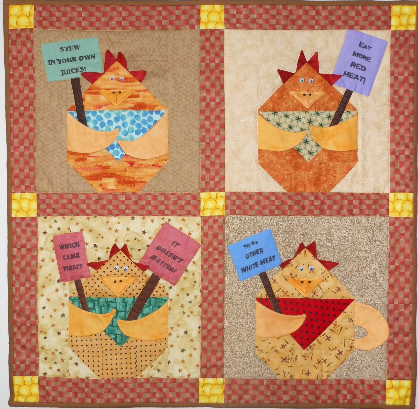 Protest Chickens Kit- Red Backing