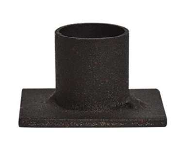 Small Iron Candle Holder  1-1/2 x 2 Base