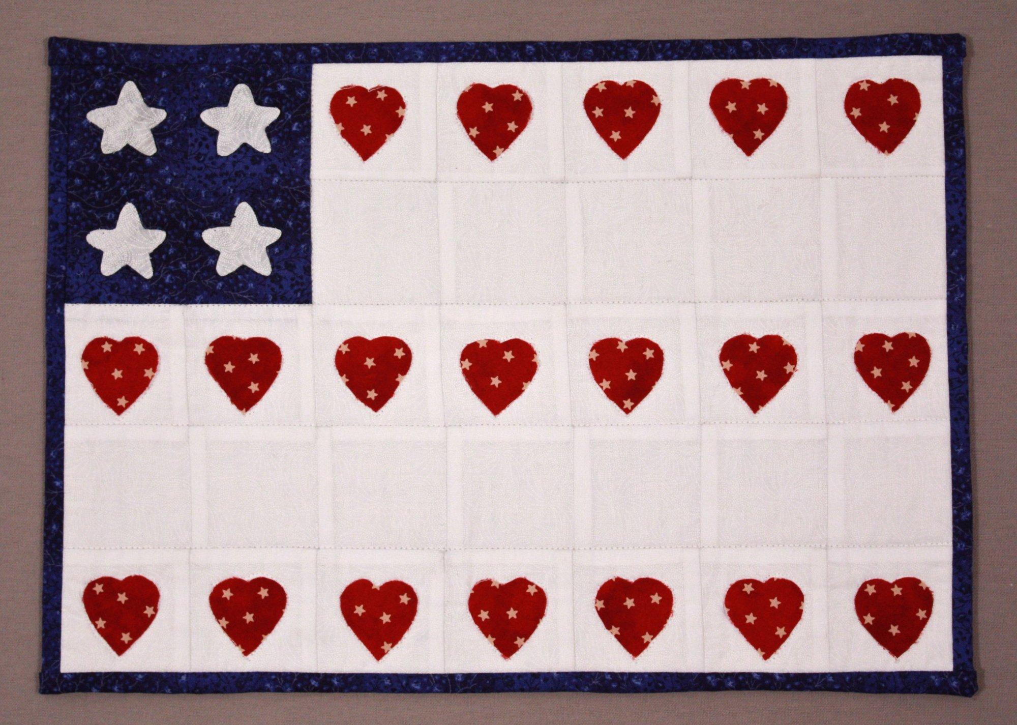 Simple Squares (TM) Flag Quilt Pattern & Kit