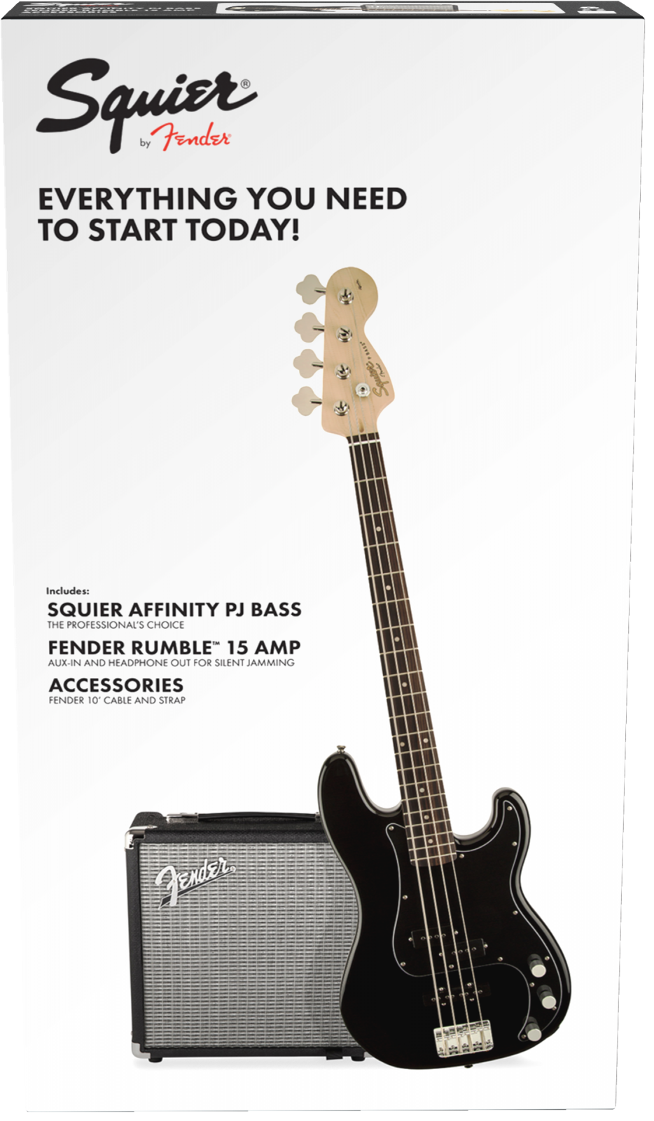 FENDER PJ BASS PACK BLK