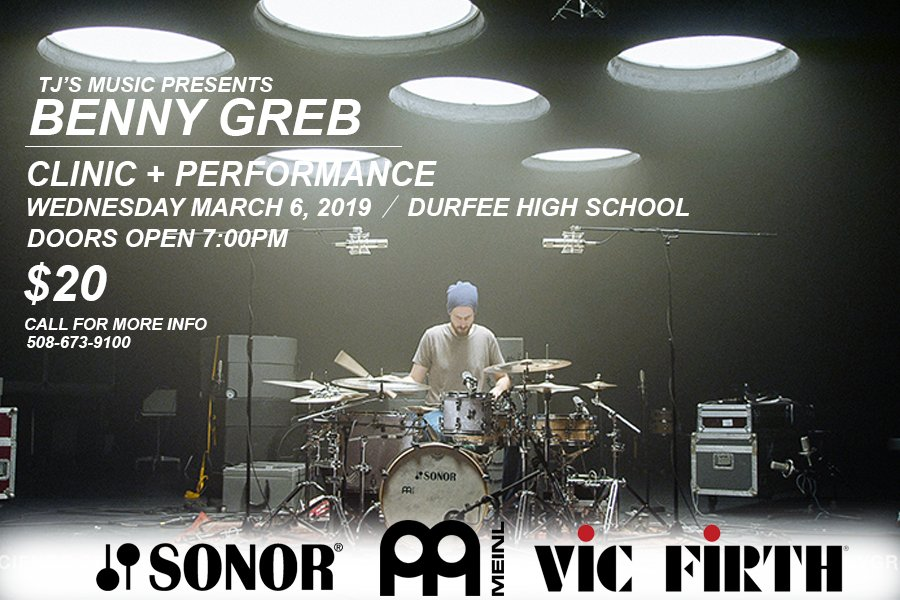 Benny Greb Clinic and Performance March 6, 2019
