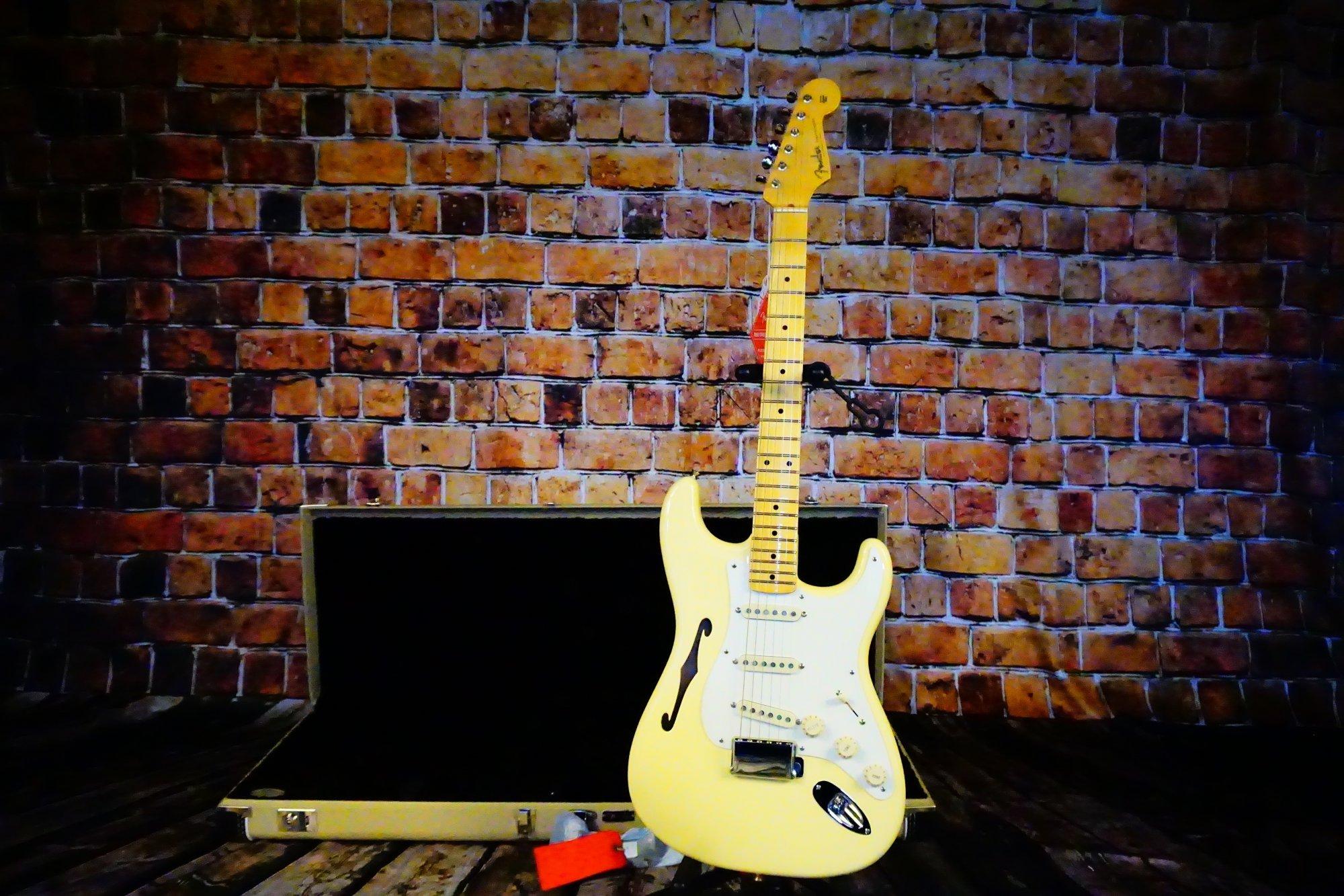 Fender  Eric Johnson Thinline Stratocaster, Maple Fingerboard, Vintage White