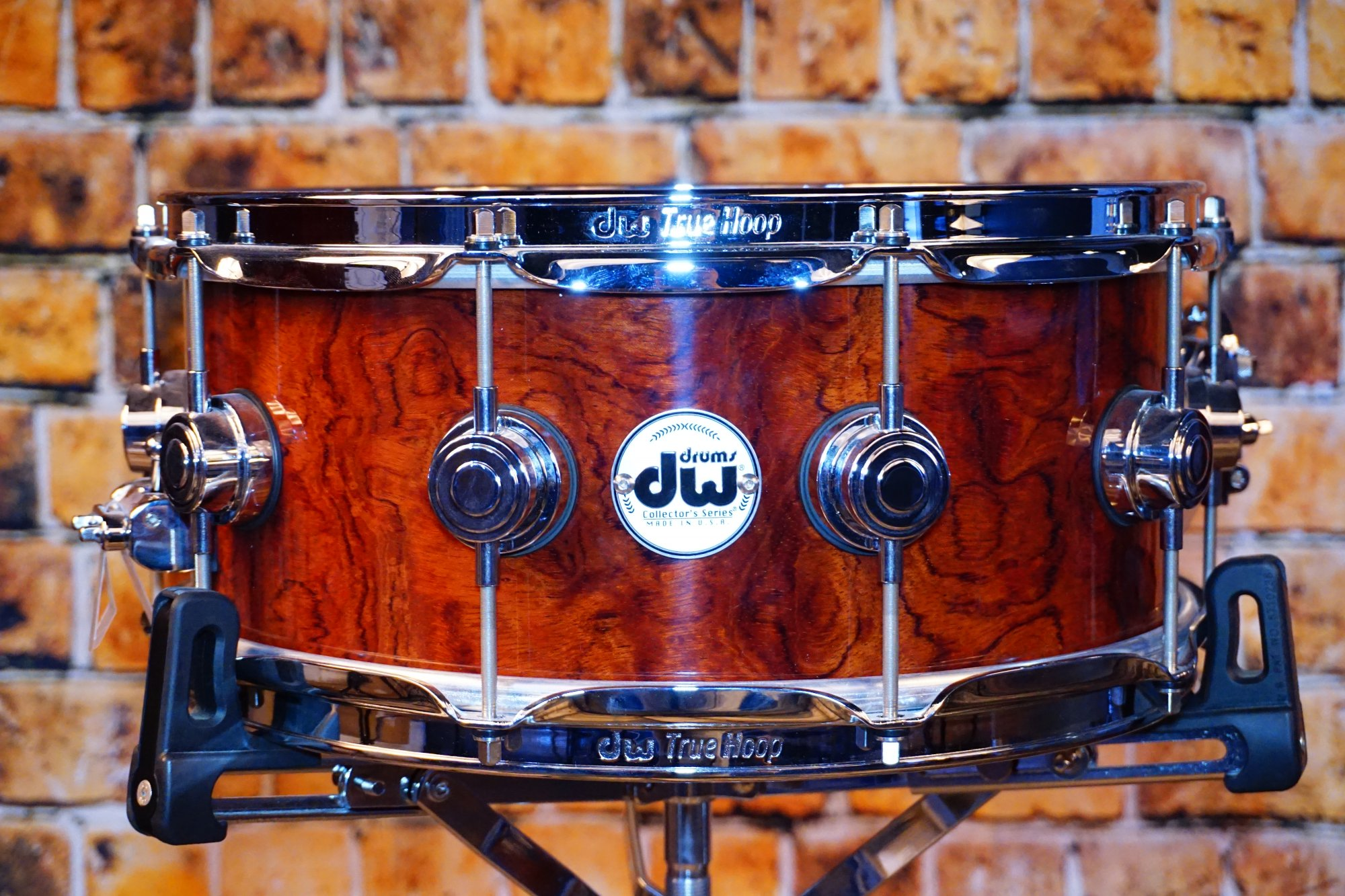 DW Collector's Series Exotic PRIVATE RESERVE Waterfall Bubinga Snare 14 x 6.5