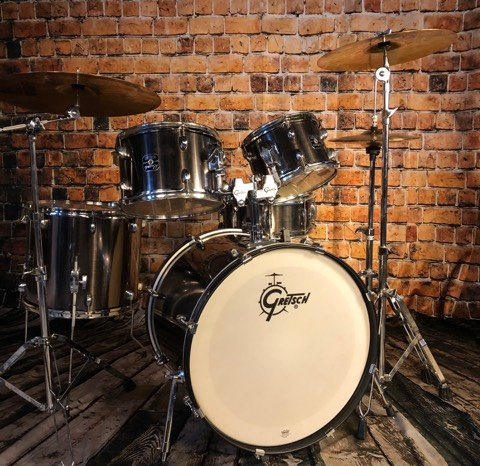 Used Gretsch Energy Drum Kit w/ Sabian SBR Cymbals and Stands