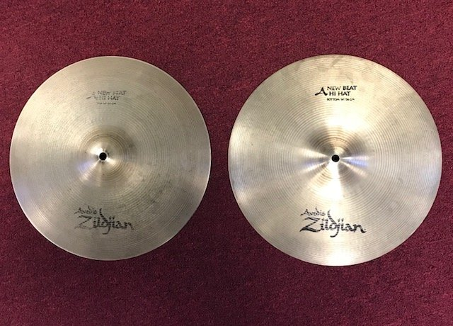 Used Zildjian 14 New Beat Hi-Hats