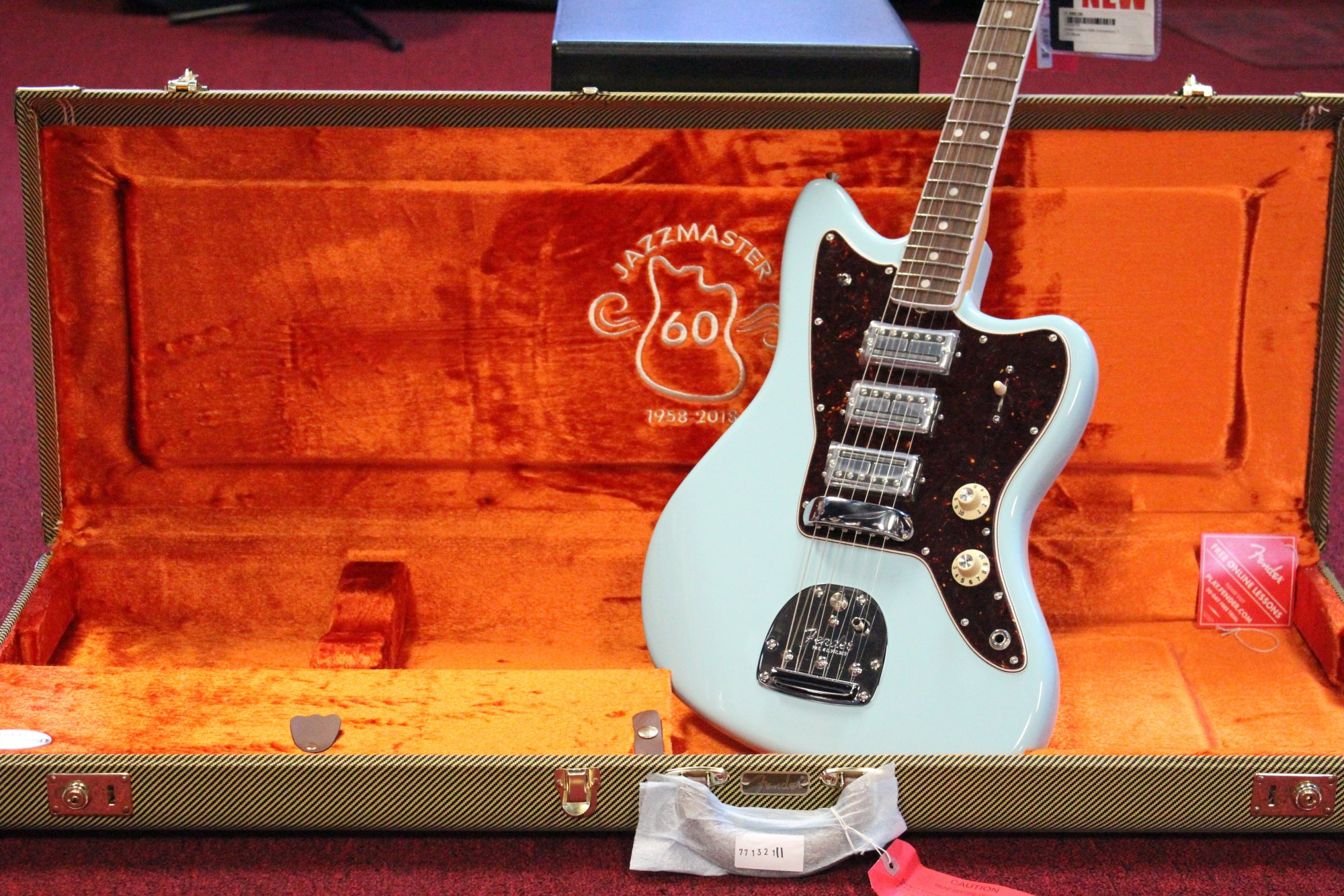 Limited Edition 60th Anniversary Triple Jazzmaster®, Rosewood Fingerboard, Daphne Blue