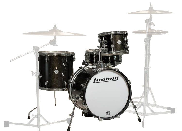 Ludwig Breakbeats by Questlove 4-Piece Shell Set (Black Sparkle) (SOLD - Available for Re-order)