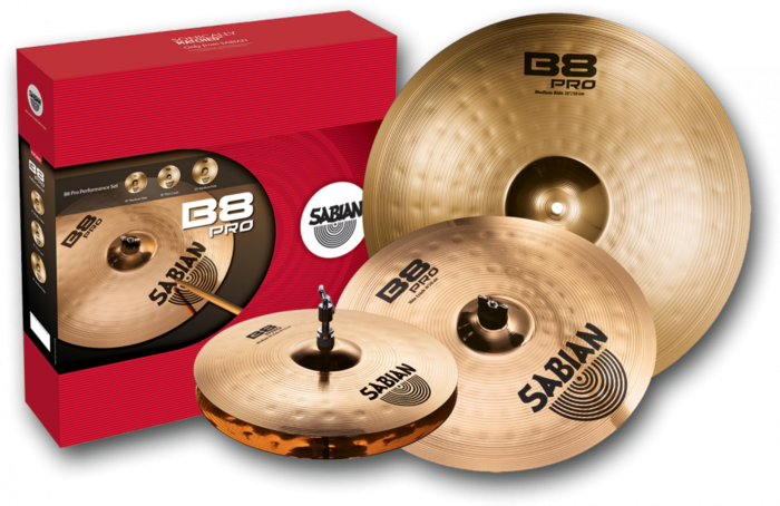 Sabian 35003B B8 Pro Performance Cymbal Set