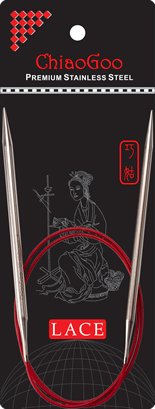 ChiaoGoo Red Lace Circular, 24 inch
