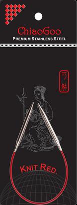 ChiaoGoo Red Circular Needles, 9 inch
