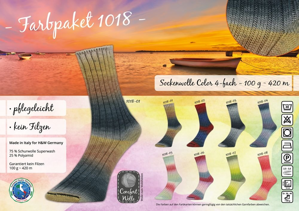 Comfort Wolle Sockenwolle Color