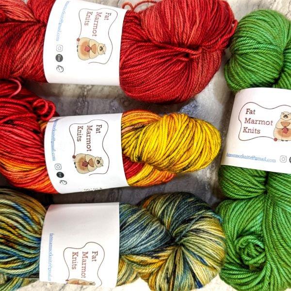 Fat Marmot yarn skeins