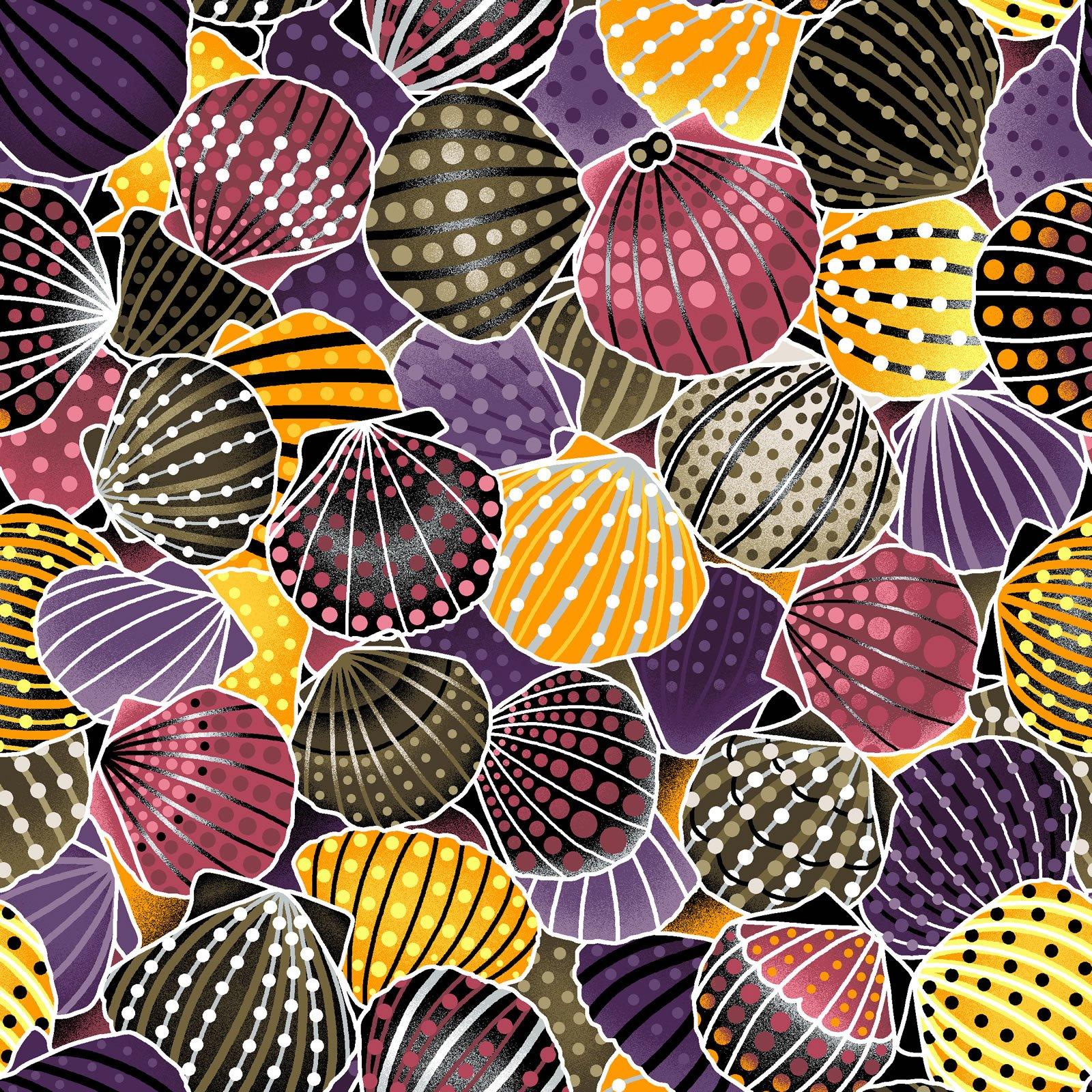 Seashell Purple-Brown Way-Under ABORIGINAL