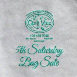 Fifth Saturday Bag Sale