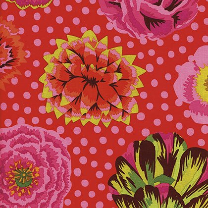 BIG BLOOMS - Red Kaffe Fassett  GP91.RED