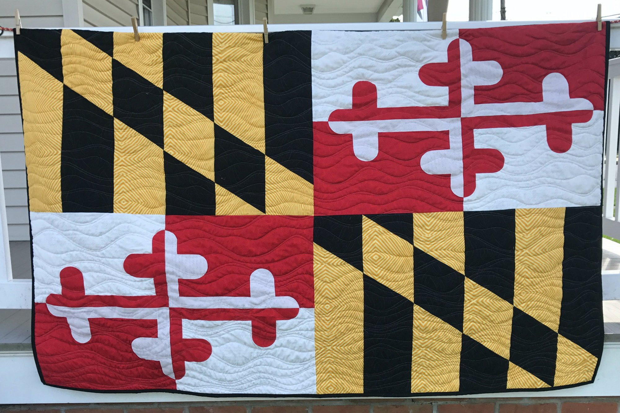 Maryland Flag Quilt Kit