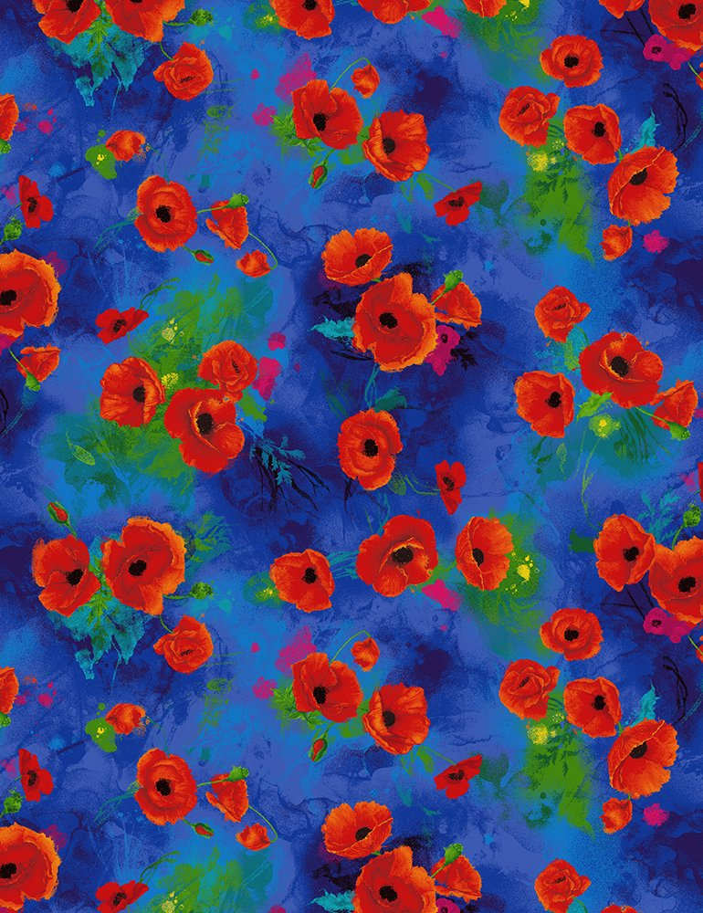 Poppy Bunches-Blue