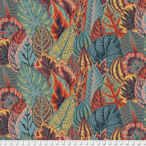 Coleus Teal Kaffe Fassett Collectives