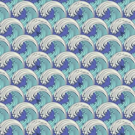 ZUMA White Caps Aquamarine