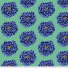 WIDE Blue Full Blown Kaffe Fassett  108 inch - copy