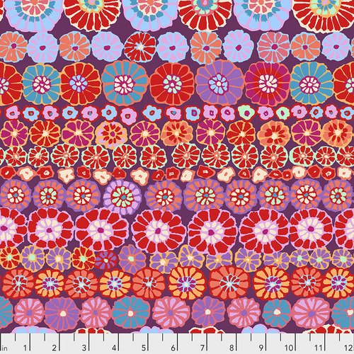 Row Flowers - Red - Kaffe Fassett
