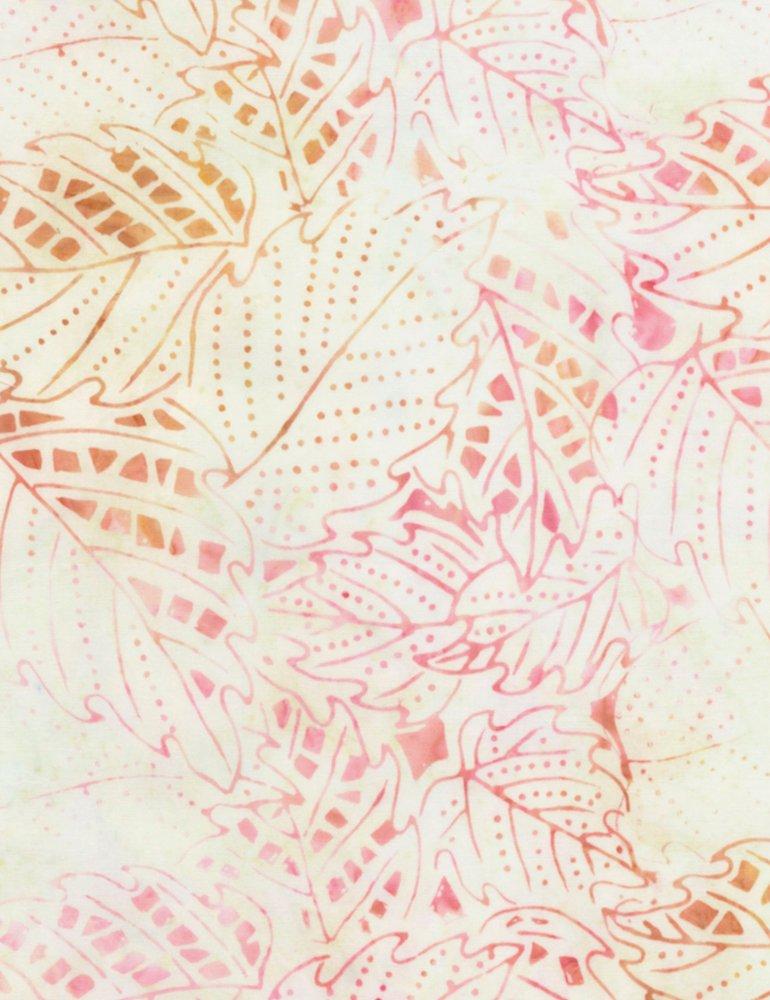 Leaf Batik Satin Tonga-B6951