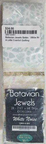 Batavian Jewels Batiks - White Noise