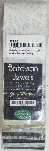 Batavian Jewels Batiks - Gray Matters