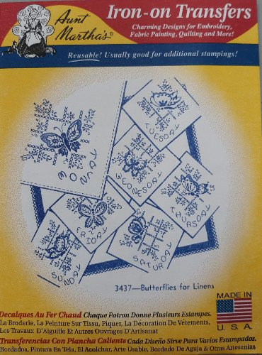 Aunt Martha's Butterflies for Linens - ATM3437