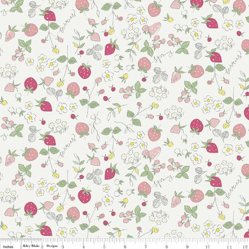 Serendipity Strawberries - C7262-CREAM